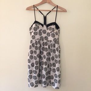 Bar III / ivory with black dots strappy dress